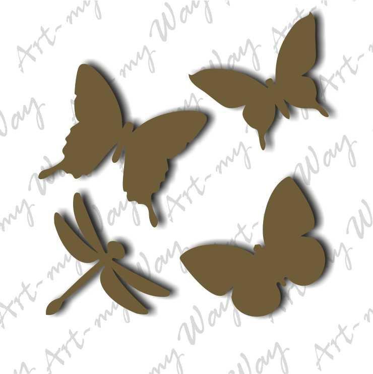 """Набор """"Бабочки""""4шт. 7см"""