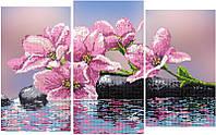 Схема для вышивки бисером Орхидея триптих