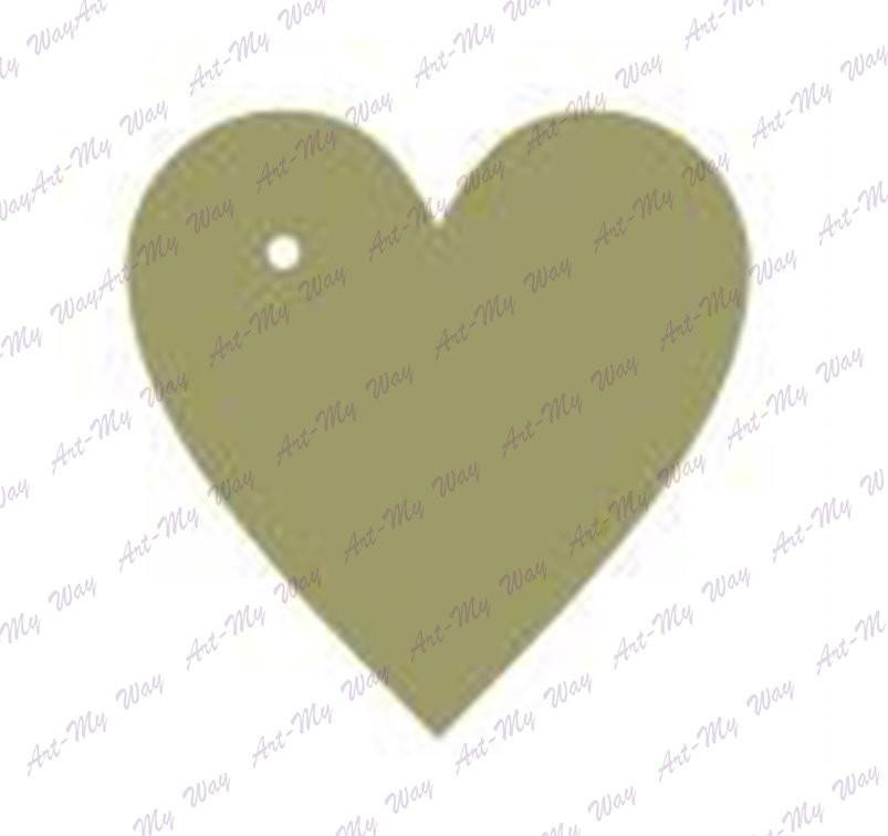 Основа-часы (фанера)Сердце-2