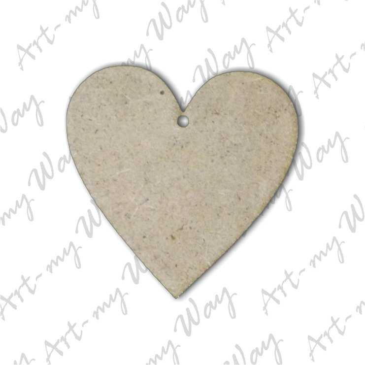 Заготовка для бижутерии сердце 5 см