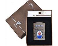 Зажигалка подарочная Maserati (спираль накаливания, USB) №4705