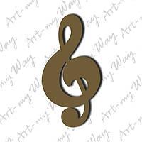 Музыка - скрипичный ключ-10см