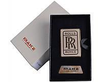 Зажигалка подарочная Rolls Royce (спираль накаливания, USB) №4693