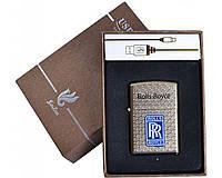 Зажигалка подарочная Rolls-Royce (спираль накаливания, USB) №4705