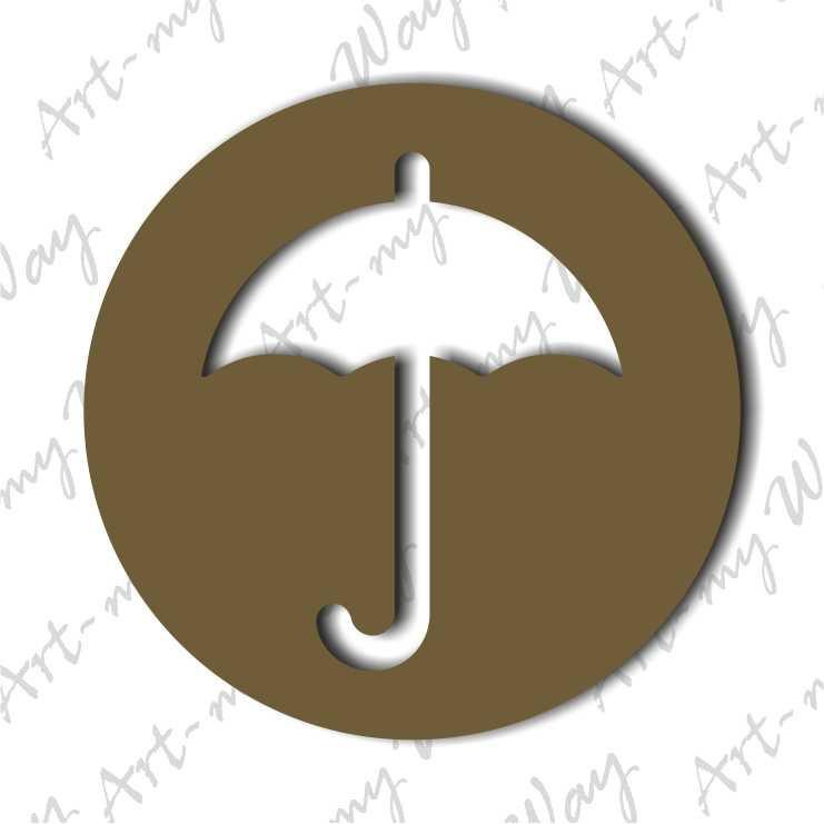 Предметы - зонт-5см