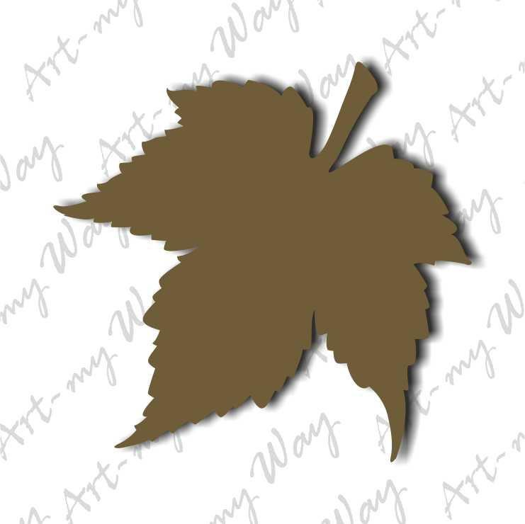 Сад и огород - лист кленовый-10см