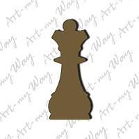 Шахматная фигура -  ферзь 3см