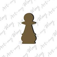 Шахматная фигура - пешка 3см