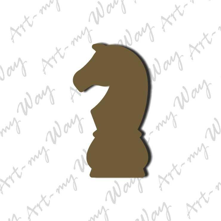 Шахматная фигура  - конь 3см