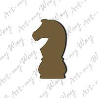 Шахматная фигура -  конь 10см