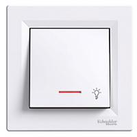 SHNEIDER ELECTRIC ASFORA Кнопка с подсветкой Белая