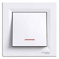 SHNEIDER ELECTRIC ASFORA Выключатель одноклавишный с подсветкой Белый
