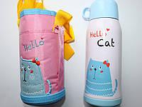 """Детский термос с трубочкой """"Hello Cat"""""""