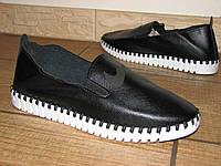 Женские черные слипоны Nike на белой подошве 36, 38 эко кожа