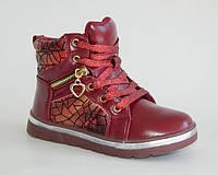 EEBB арт.519 красный     Демисезонные ботинки для девочек.