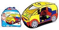 Детская палатка Машина М 2497, вход в виде дверцы, окошки-сетки, прочная ткань, чехол, 120х65х60 см