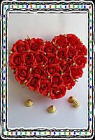 Сердце-подарок  из конфет