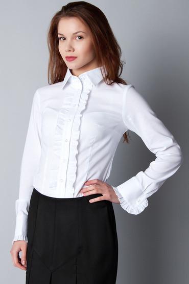 Блузка-рубашка с рюшами Р08