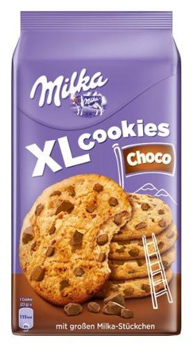 Печенье Milka XL Cookies Choco с кусочками шоколада, 184 г