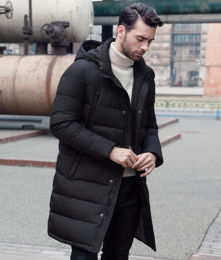 24ee3db8ae58 Зимнее мужское пальто со съемным капюшоном - Интернет-магазин одежды