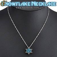 """Украшение на шею - """"Snowflake Necklace"""" + подарочная упаковка!"""