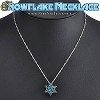"""Украшение на шею - """"Snowflake Necklace"""" + подарочная упаковка, фото 1"""