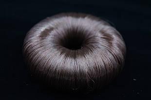 Бублик волосяной белый, коричневый, чёрный №8