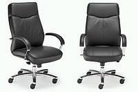 Кресло кожаное для руководителя «Rapsody  steel chrome» SP, Офисные кресла