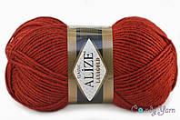 Alize Lana Gold, тёмно красный №538