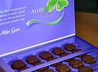 Шоколадні цукерки у коробці Milka Alles Gute з праліне, 110 гр, фото 4