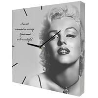 Настенные часы с принтом Монро