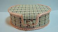 Шкатулка бамбуковая плетеная размер 15*10*5