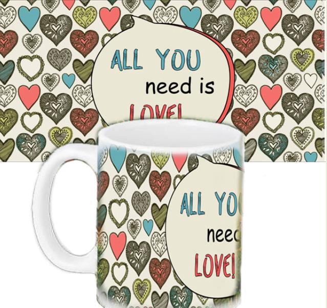 Кружка с печатью - Любовь - все что нужно тебе