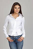 Белая женская рубашка с галстуком Р23