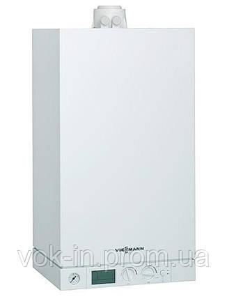 Газовый котел Viessmann VITODENS 100 26 кВт + комплект труб (конденсационный, двухконтурный), фото 2