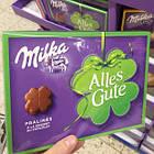 Шоколадні цукерки у коробці Milka Alles Gute з праліне, 110 гр, фото 7