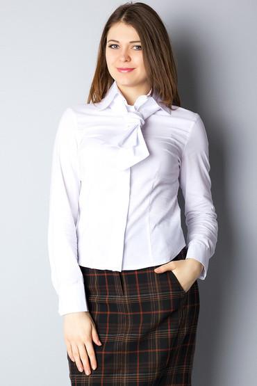 9c4ef56e3dc Белая женская рубашка с галстуком Р23  продажа