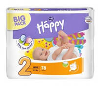Подгузники Happy Bella 2 Mini (3-6 кг) 78 штук