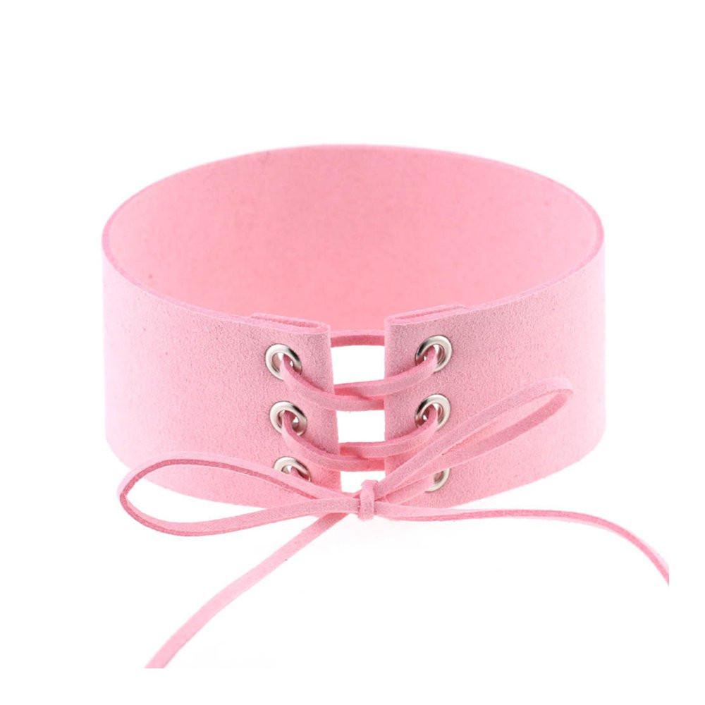 Чокер корсет розовый