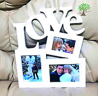 Фоторамка Love, подарок парню, семейная фоторамка