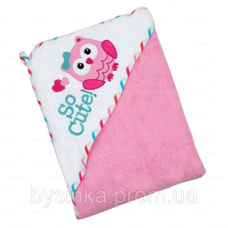 Махровое полотенце с капюшоном 100 х 100 см. BABY MIX