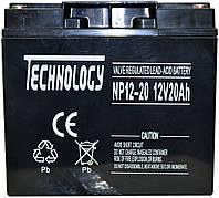 Аккумулятор мультигелевый TECHNOLOGY NP12-20Ah 12V 20AH, (AGM) для ИБП, фото 1