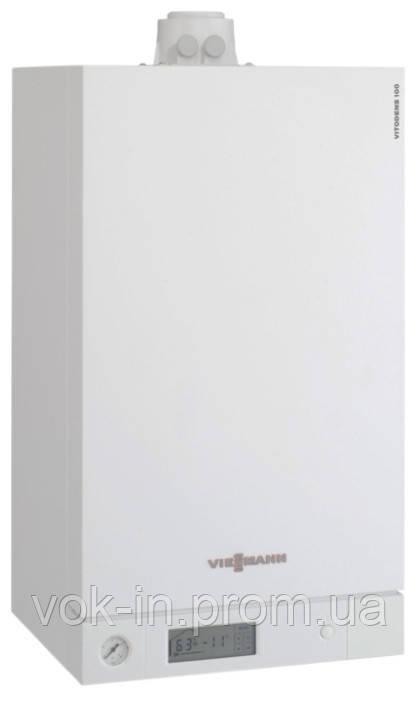 Газовый котел Viessmann VITODENS 100 35 кВт+ комплект труб (конденсационный, двухконтурный)