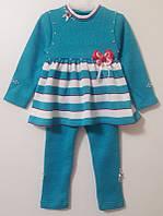 Платье-костюм детское вязаное
