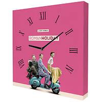 Часы настенные с принтом Римские каникулы