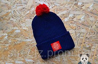 Зимняя шапка с бубоном Stone Island / Стоун Исланд , фото 2