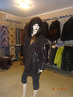 Куртка женская с капюшоном коричневая