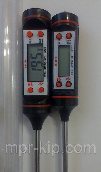 Кухонный термометр для мяса TP-101+ (-50 ... +300 ºC) C функциями Hold, C/F и Max/Min (цвет: черный )