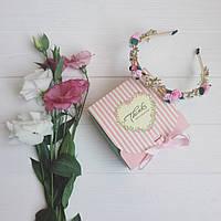 Корона обруч D&G Flora mini , диадема