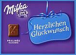 Шоколадные конфеты в коробке Milka Herzlichen Glückwunsch с пралине, 110 гр, фото 2